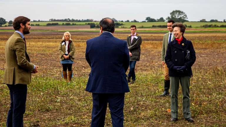 Chancellor, The Princess Royal, makes private visit to the Hands Free Farm