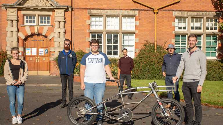Engineering students get hands-on for cycling land speed record attempt