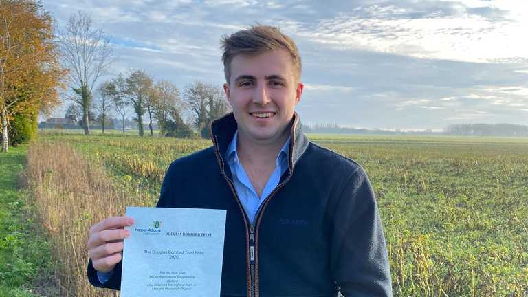 Graduate Prizes 2020: Tom Mead, winner of the Douglas Bomford Trust Prize