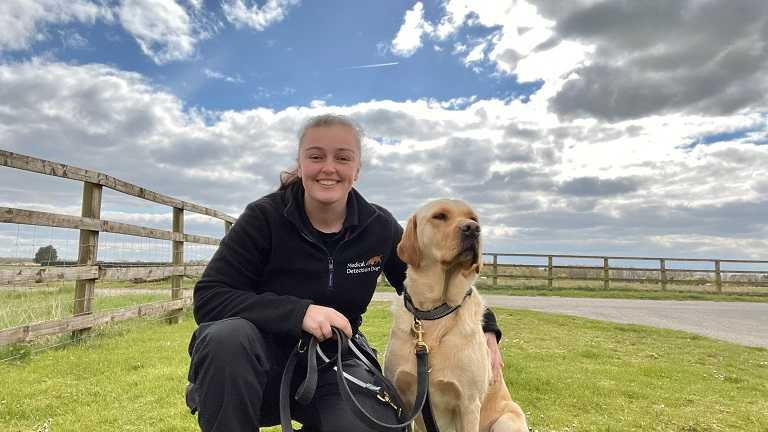 Animal Behaviour student secures role training dogs for cutting edge coronavirus detection project