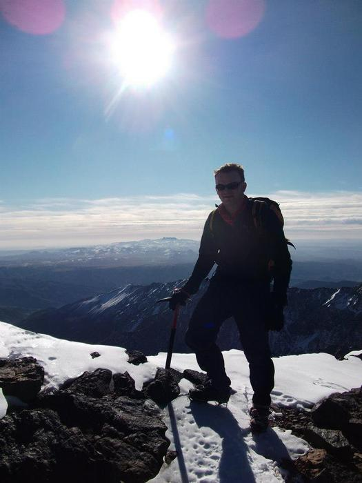 Jack on Mt Toubkal - North Africa's highest mountain, December 2011