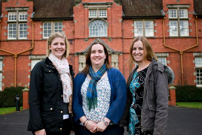New staff: Lucy Evans, Beth Roberts and Elizabeth Gilbert