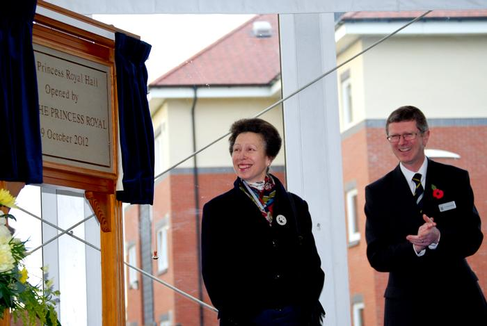 The Princess Royal and Dr David Llewellyn, Harper Adams Principal