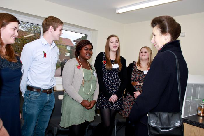 The Princess meets students in the new hall of residence