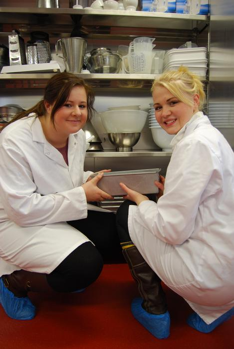 Paula and Michelle in the RFA kitchen