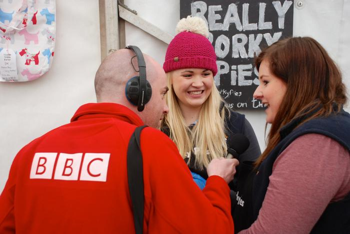 Michelle and Paula being interviewed by Radio Shropshire