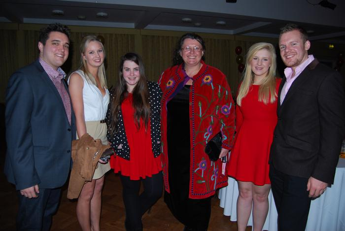 British students pictured with Senior Lecturer, Becky Payne.