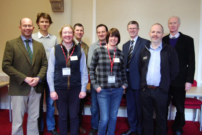 The scholars with Harper Adams staff and Vice-Chancellor, Dr David Llewellyn