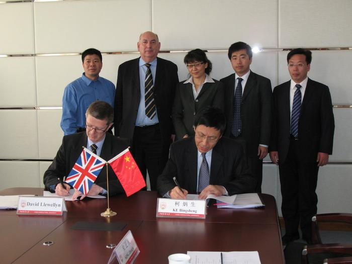 An agreement for a new postgraduate course was signed by Dr Llewellyn and the China Agricultural University President, Professor Ke Bingsheng