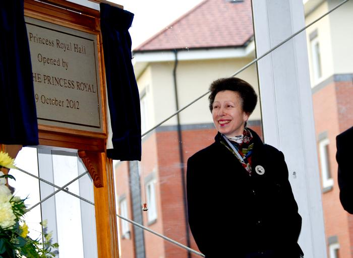 HRH The Princess Royal opens a new residential block during her last visit to the campus