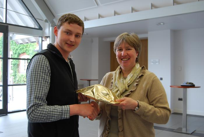 David received a prize for bringing in the single largest donation