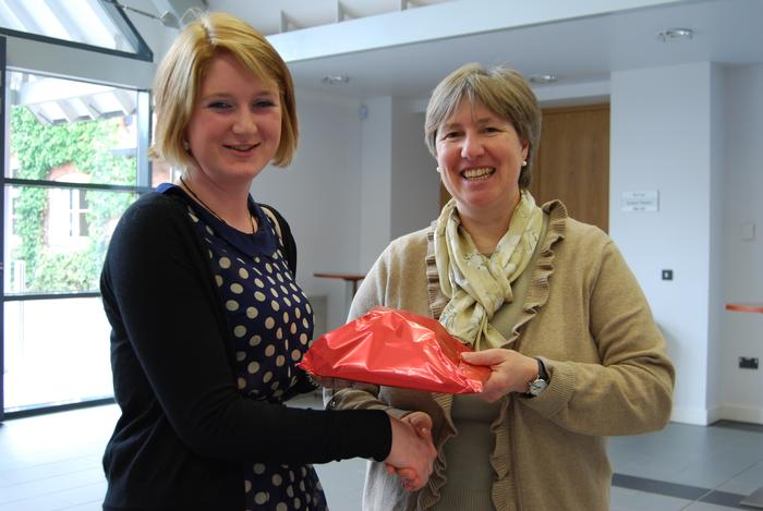 Niamh was presented with a prize for coming runner-up