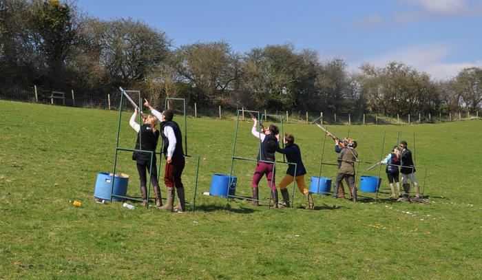 Members of the Clay Shooting Club - photo by Georgi Edwards