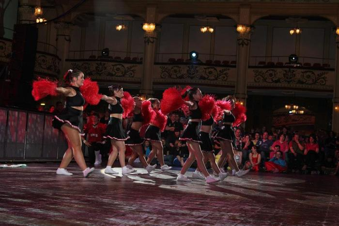 One of the cheerleading performances (photo by Gracey)