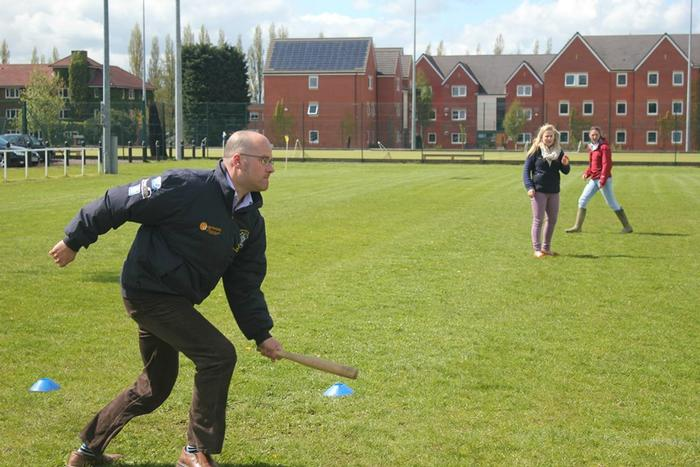 Agriculture Placement Manager, Terry Pickthall, enjoying a spot of rounders (photo by Gracey Munro-Henworth)