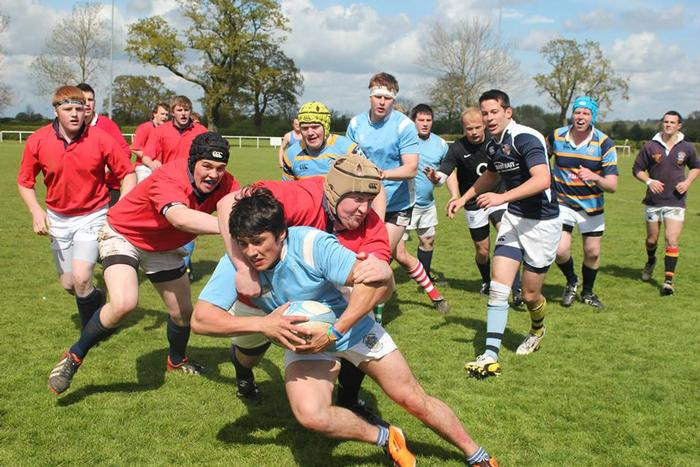 Students get stuck into rugby (photo by Gracey Munro-Henworth)