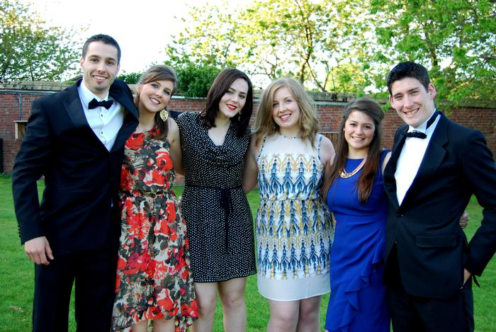 Students at the final year dinner