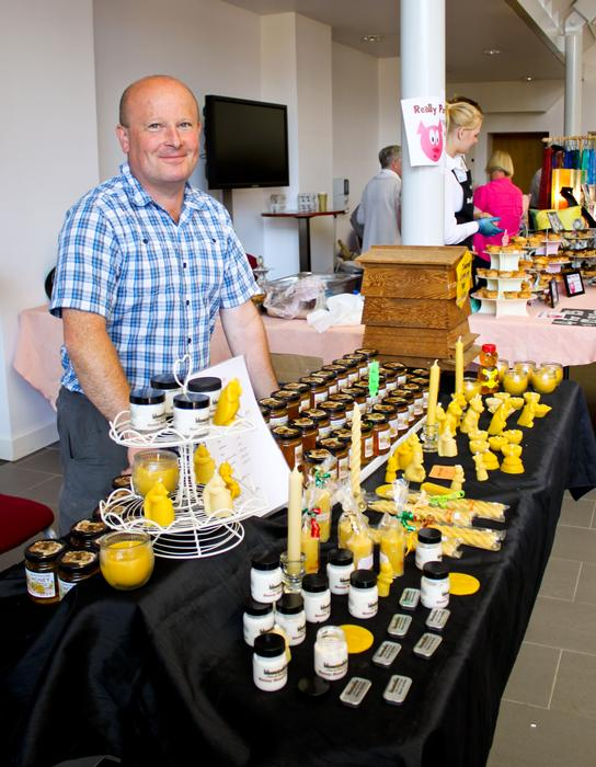 Lecturer Simon Irvin showcases his Shropshire honey enterprise