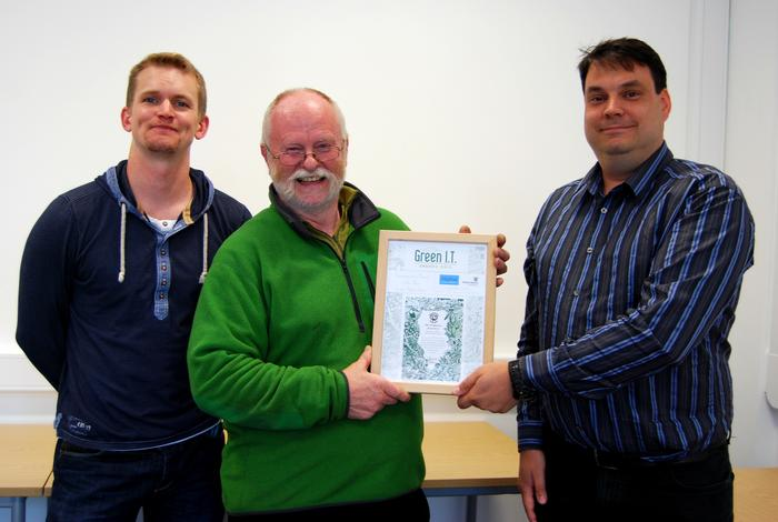 Richi Jenkin, Roger Greenhalgh and Rob Baker from the Harper Adams Information Services (IS) dept.