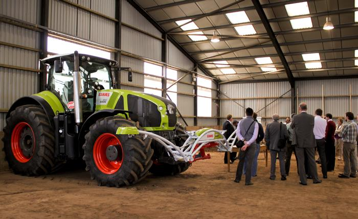 Delegates are treated to a demonstration by CLAAS