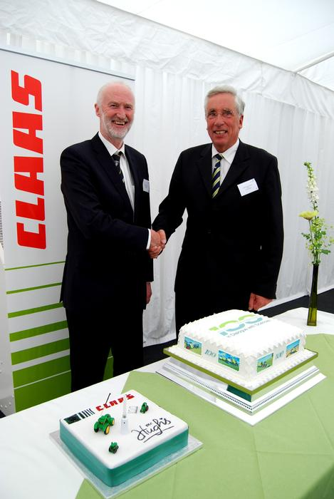 Left, Professor Simon Blackmore, Head of Engineering at Harper Adams, with Dr Michael Quinckhardt, CEO of CLAAS Agrosystems