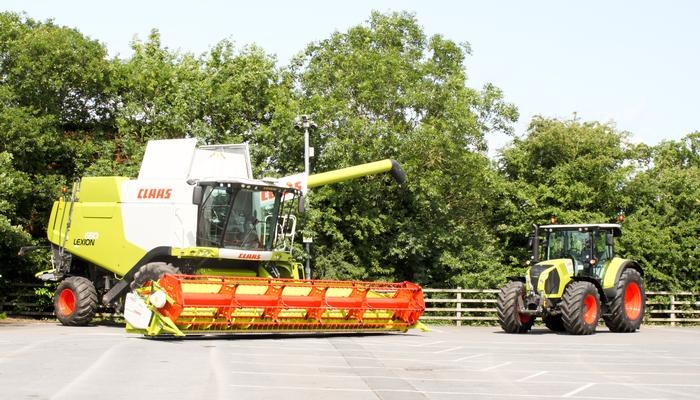 Some of the CLAAS machines on display at the conference