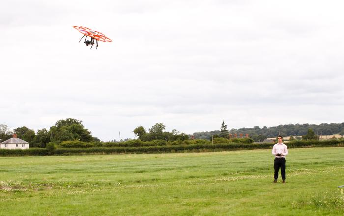 The Aibot X6 hexacopter in action