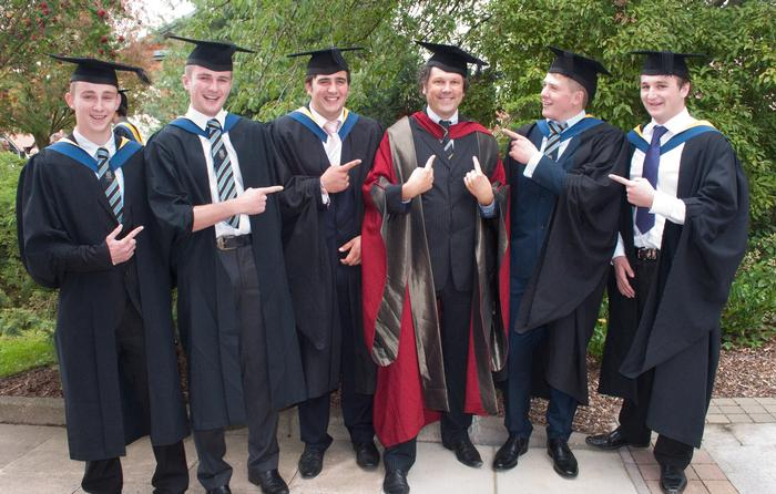 Members of the Class of 2013 with Senior Lecturer Dr John Reade