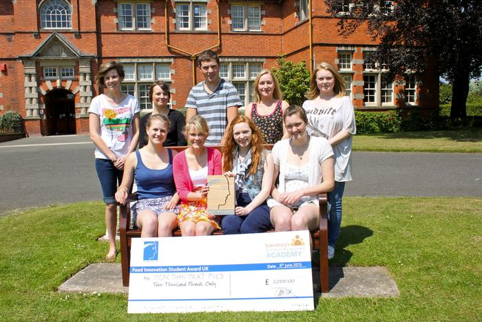 The students pictured after winning the UK heat of the competition