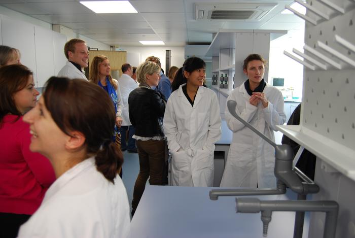 Visitors viewing the new facility