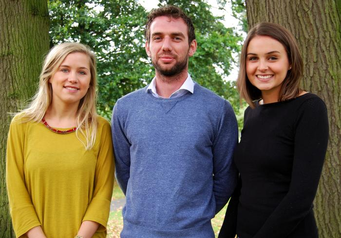 Kate Jackson, Oliver Corbett and Alicia Mathewson