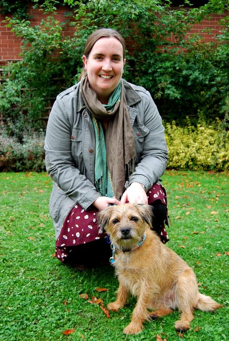 Beth Roberts with her dog, Haggis
