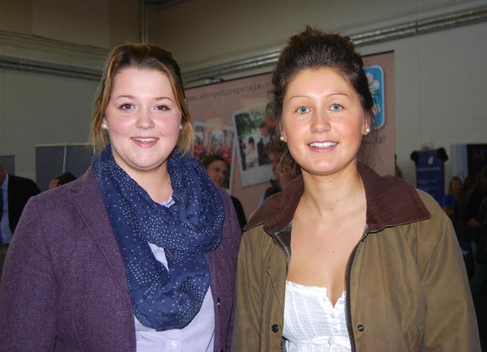 Final year students Anna Bird (left) and Nicola Davies at the fair.