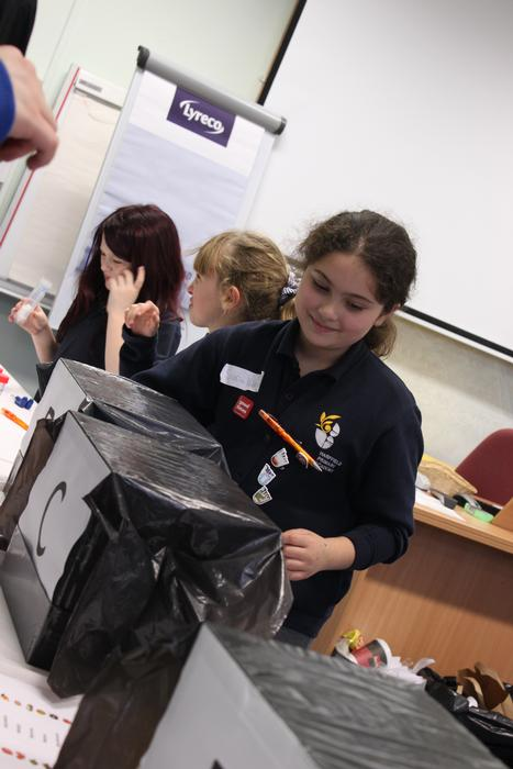 Sara, from Harpfield Primary Academy, Stoke-on_Trent during one of the Harper Adams activities