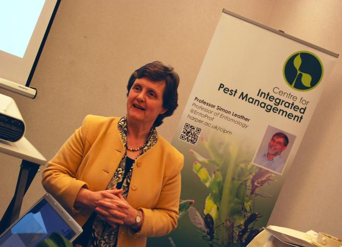 Anthea McIntyre, MEP West Midlands UK, Member of European Parliament Agriculture Committee speaks at a pre-event reception