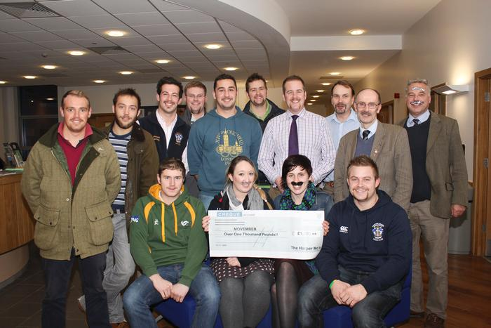 The Harper Adams Movember team