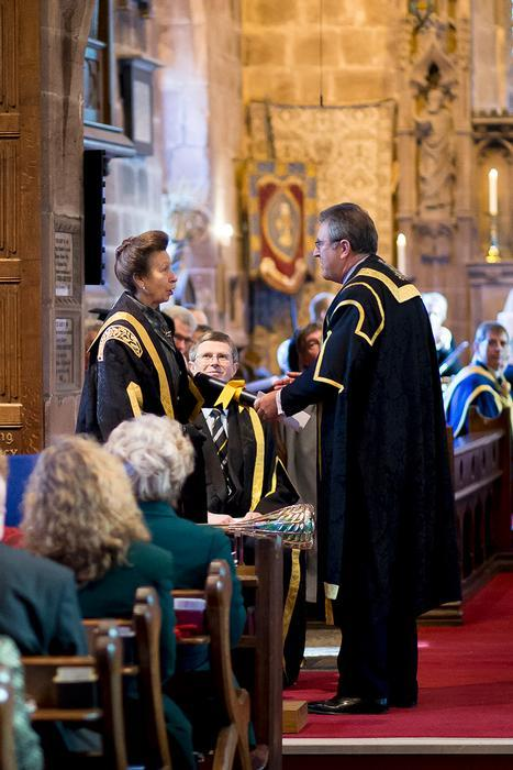 HRH The Princess Royal became the first Chancellor of Harper Adams