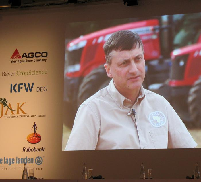 Dr Mark Moore, of AGCO, speaks at the summit