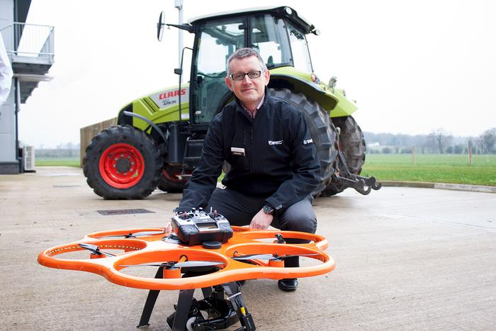 Richard Gauchwin, from KOREC, with the UAS used in the demonstration