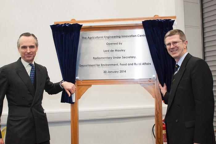 The official opening of the Agricultural Engineering Innovation Centre