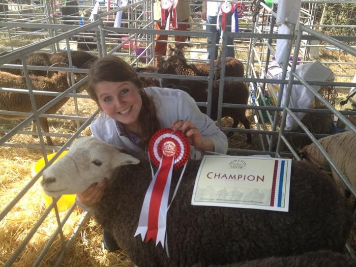 Amy has success at an agricultural show