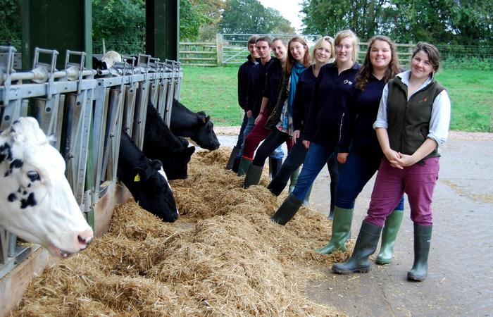 The team at the on-campus dairy unit