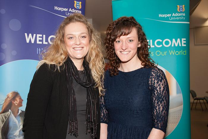Kate Jones, new Cargill Meats scholar (right)