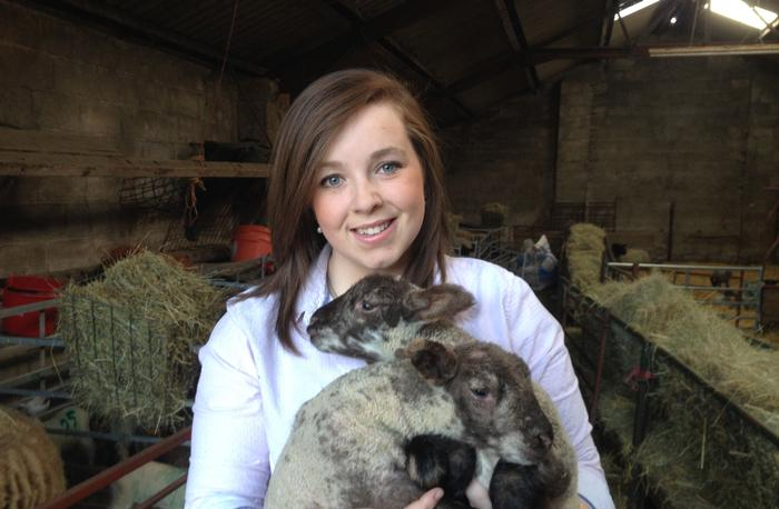 Ali with some of her lambs