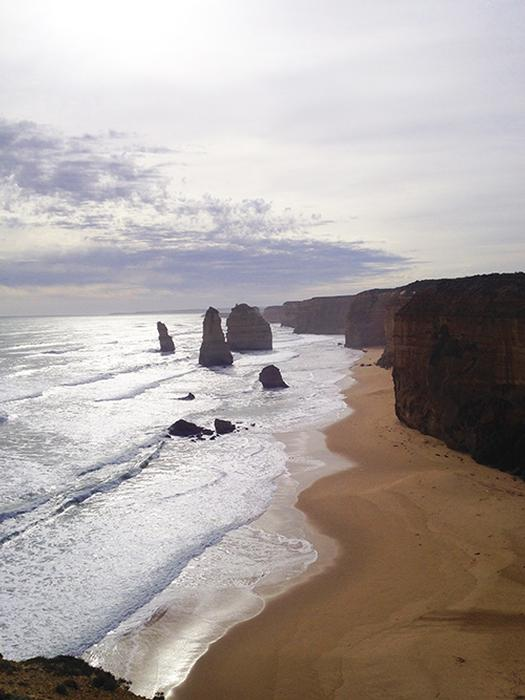 Stunning views from the Great Ocean Road, a highlight of Pamela's time in Australia.