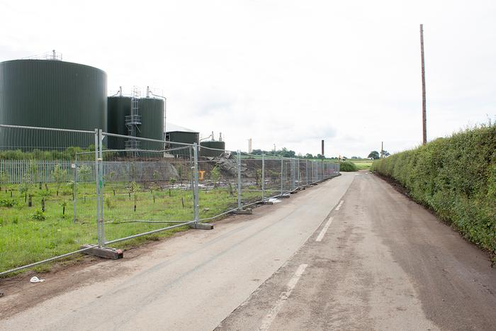 Clear: The access road to the AD plant was fully cleared over the weekend. Digestate is now contained within the plant.