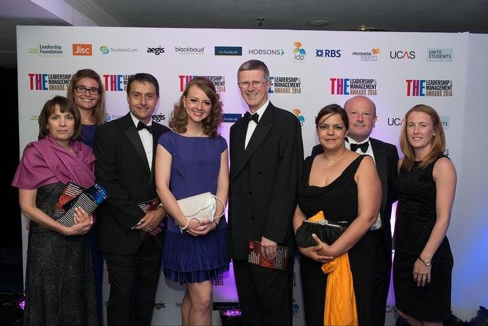 Harper Adams staff from the three shortlisted categories