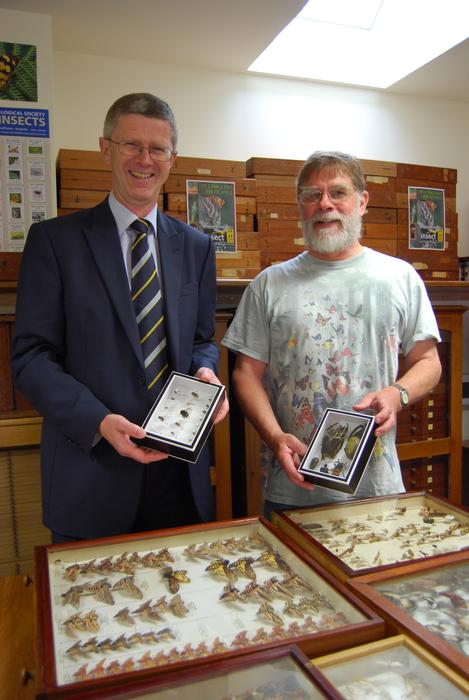 Dr David Llewellyn and Professor Leather open the EntoHub