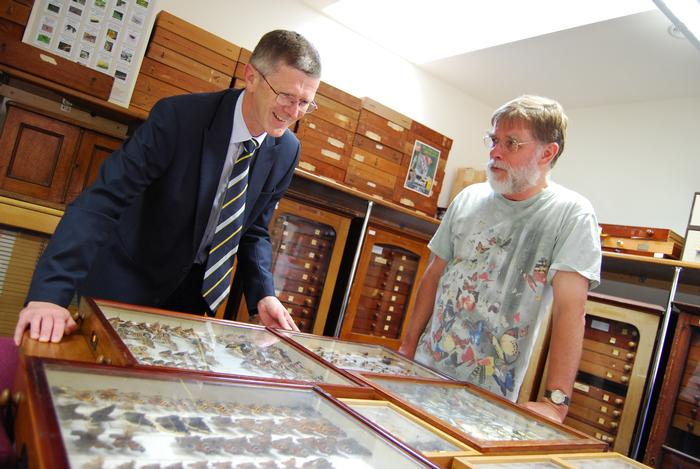 Dr David Llewellyn hears about the collection from Professor Leather