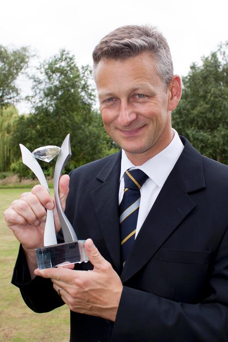 David Nuttall with the CUBO Award